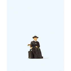 Preiser 28105 HO 1/87 Reverend Waiting for Train