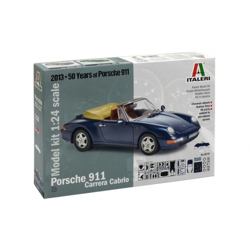 ITALERI 3679 1/24 Porsche 911 Carrera Cabrio