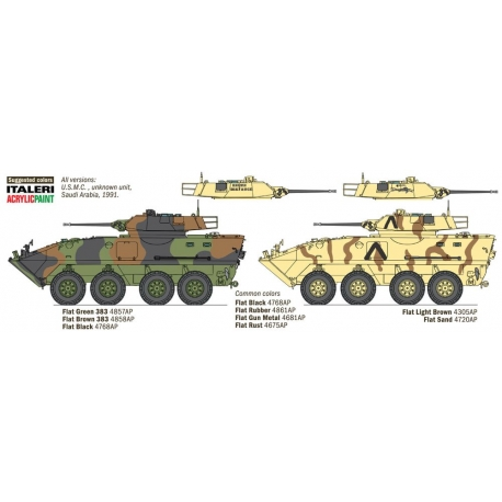 ITALERI 6539 1/35 Gulf War 25th Anniversary LAV-25 Piranha