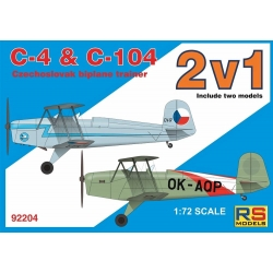 RS MODELS 92204 1/72 Aero C 4 + C 104 Double kit