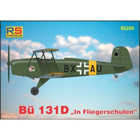 "RS MODELS 92205 1/72 Bücker 131 D ""In Fliegerschulen"""