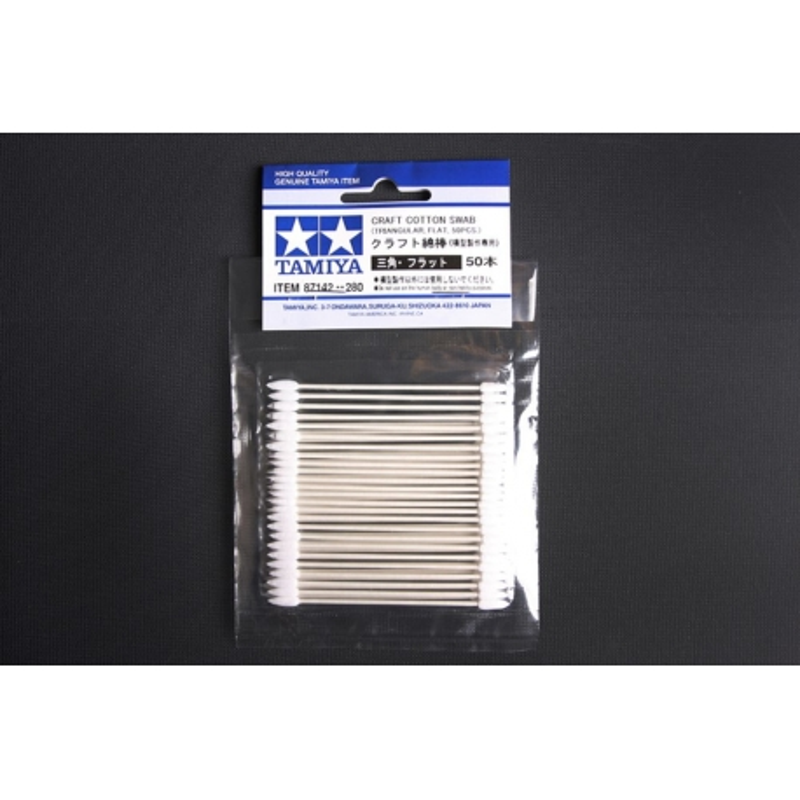 Tamiya 87142 Cotons Tiges Triangualires Plats 50pcs - Craft Cotton Swab