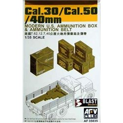 AFV CLUB AF35035 1/35 Cal.30 50/40mm Modern U.S. Ammunition Box Ammunition Belt