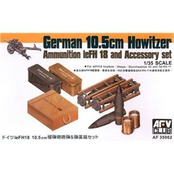 AFV CLUB AF35062 1/35 German 10,5 cm Howitzer Ammunition leFH 18 Accessory set