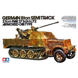 Tamiya 35144 1/35 German 8ton Semi Track 3.7 cm FLAK 37 Sd.Kfz.7/2 Armored