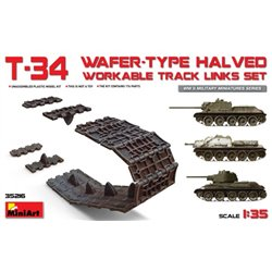 Miniart 35216 1/35 T-34 Wafer-Type Halved Workable Track Links Set