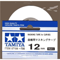 TAMIYA 87184 Ruban de masquage – Masking Tape for Curves 12mm
