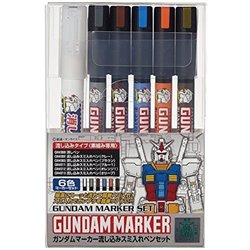 GUNZE AMS122 Gundam Marker Pouring Inking Pen Set