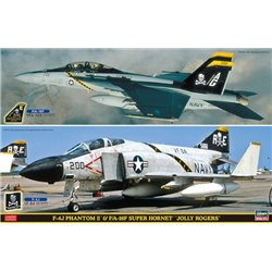 HASEGAWA 52147 1/72 F-4J Phantom II & F/A-18F Super Hornet Jolly Rogers 2Kits