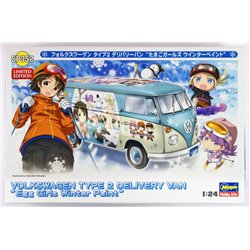 HASEGAWA 52152 1/24 Volkswagen Type2 Delivery Van Egg Girls Winter Paint