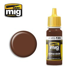 AMMO OF MIG A.MIG-0133 Peinture Red Leather 17ml