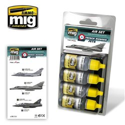 AMMO OF MIG A.MIG-7211 Peinture French Modern Jets 4x17ml