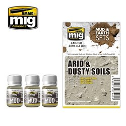 AMMO OF MIG A.MIG-7440 Enamel Arid and Dusty Soils 3x35ml
