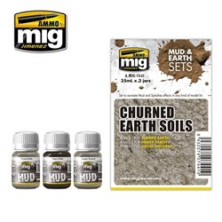 AMMO OF MIG A.MIG-7441 Enamel Churned Earth Soils 3x35ml