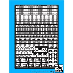Black Dog E35001 1/35 Fasteners and buckles Photo Etched