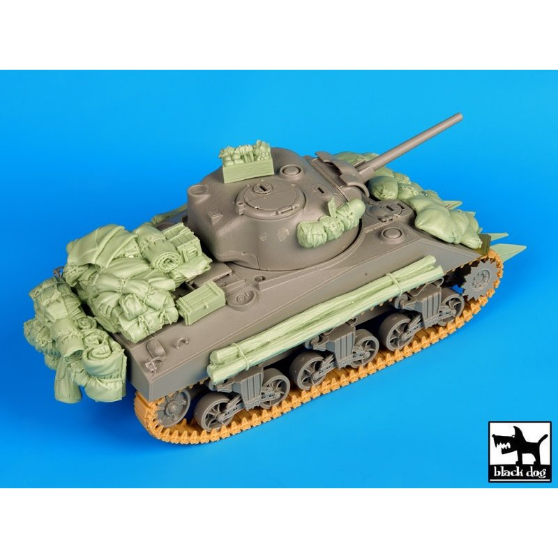 Black Dog T35081 1/35 Sherman 75mm Normandy accessories set
