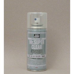 GUNZE Sangyo Mr Hobby B-516 Mr Super Clear Semi Gloss Spray 170ml