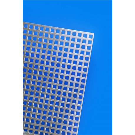 Maquett A481010 Metal Sheets Alu Grating Mesh 5,7mm 140x220x1,2mm
