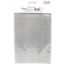 Maquett A480101 Metal Sheets Steel Grating Mesh 0,4mm 140x200x0,44mm