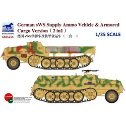 BRONCO CB35214 1/35 German SWS Supply Ammo Vehicle & Armored 2 in 1