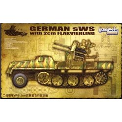 Great Wall Hobby L3525 1/35 German sWS with 2cm Flakvierling