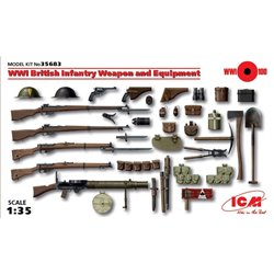 ICM 35683 1/35 WWI British Infantry Weapon and Equipment