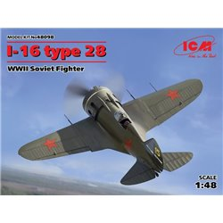 ICM 48098 1/48 I-16 type 28, WWII Soviet Fighter