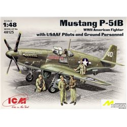 ICM 48125 1/48 P-51B with USAAF Pilots and Ground Personnel