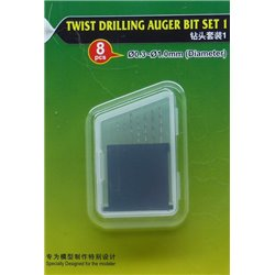 TRUMPETER 09954 Forets 0.3-0.1mm - Twist Drilling Auger Bit Set1 8pcs