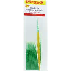 FLEX-I-FILE FFN934001 Green Short Tip, Nano Brush Micro Fiber Applicator