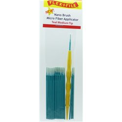 FLEX-I-FILE FFN935004 Teal Medium Tip, Nano Brush Micro Fiber Applicator
