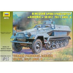 ZVEZDA 3572 1/35 German Personnel Carrier Sd.Kfz. 251/1 Ausf. B