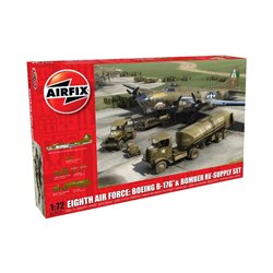 AIRFIX A12010 1/72 Eighth Air Force: Boeing B-17G & Bomber Re-supply Set