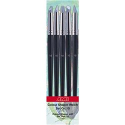 AMI Colour Shaper 575890 Pinceau Silicone Souple – Brush Soft Set n°10 5P