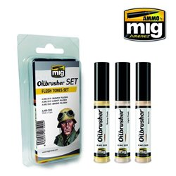 AMMO OF MIG A.MIG-7500 Oilbrusher Set Flesh Tones 10ml