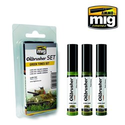 AMMO OF MIG A.MIG-7502 Oilbrusher Set Green Tones 10ml