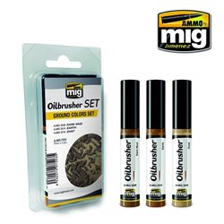 AMMO OF MIG A.MIG-7503 Oilbrusher Set Ground Colors Oil Paints 10ml
