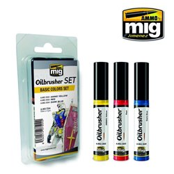 AMMO OF MIG A.MIG-7504 Oilbrusher Set Basic Colors 10ml
