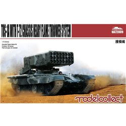 Modelcollect UA72009 1/72 Russian TOS-1A Heavy Flame Thrower System T-72 Chassis