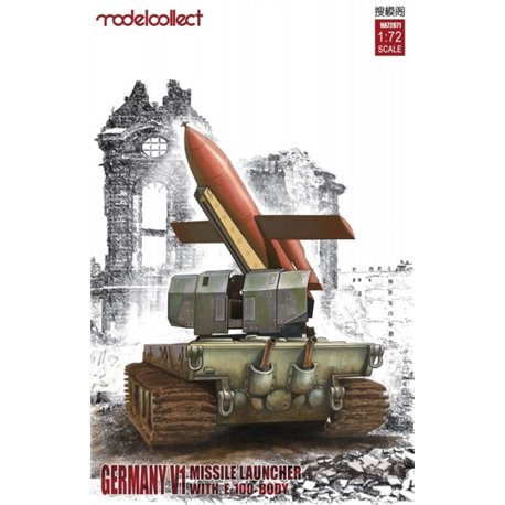 Modelcollect UA72071 1/72 Germany V1 Missile Launcher with E-100 Body