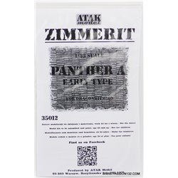 ATAK Model 35012 1/35 Zimmerit Sd.Kfz.171 Panther A Early Type