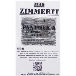 ATAK Model 35021 1/35 Zimmerit Sd.Kfz.171 Panther A Late Type Model 2