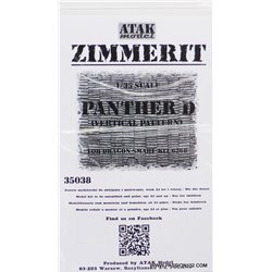 ATAK Model 35038 1/35 Zimmerit Panther Ausf. D Vertical Pattern