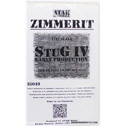 ATAK Model 35049 1/35 Zimmerit StuG IV early