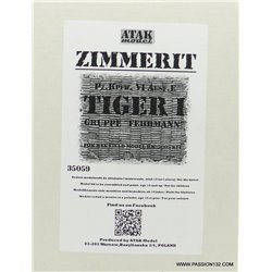 "ATAK Model 35059 1/35 Zimmerit for Tiger I Gruppe ""Fehrmann"""