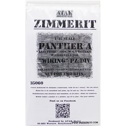 ATAK Model 35060 1/35 Zimmerit for Panther Ausf. A late Prod MAN Wiking