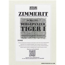 ATAK Model 35061 1/35 Zimmerit for Bergepanzer Tiger I