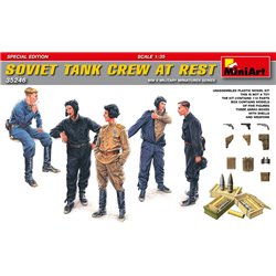 Miniart 35246 1/35 Soviet Tank Crew at Rest (Special edition) 5pcs