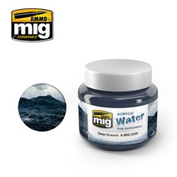 AMMO OF MIG A.MIG-2200 Acrylic Water Deep Oceans 250ml