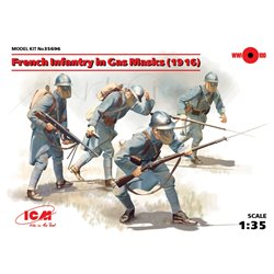 IICM 35696 1/35 French Infantry in Gas Masks 1916 4 figures